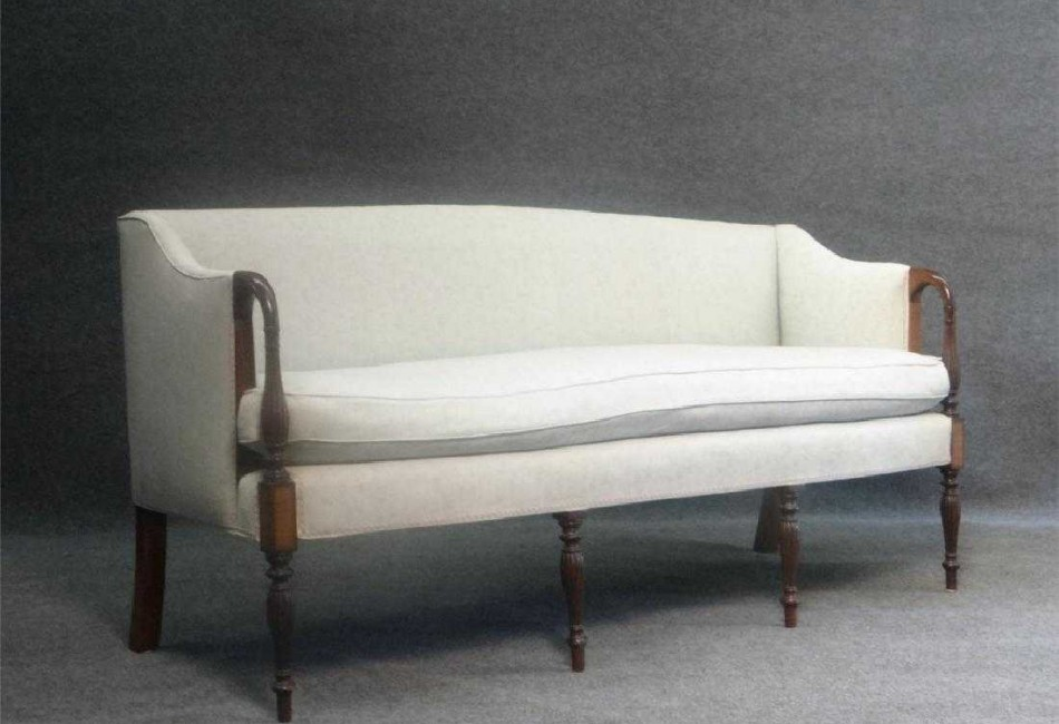 SHERATON STYLE DROP ARM SOFA