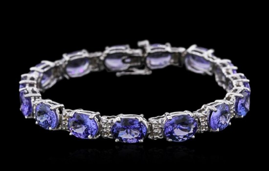 14KT White Gold Tanzanite and Diamond