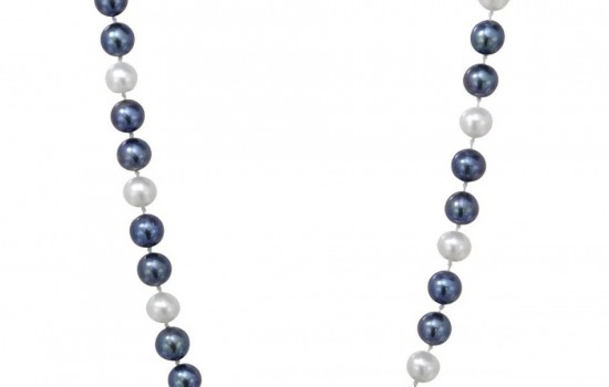 Brand New Necklace With Genuine Freshwater Pearls 925 Sterling silver