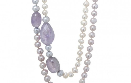 Brand New Set of  Precious Stones - Genuine Amethysts and 6-8mm Freshwater Pearls